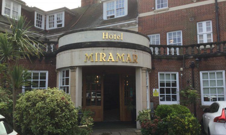 October 2019. Hotel Miramar, Bournemouth.